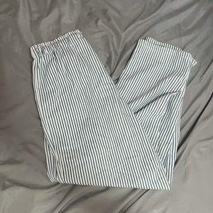 blue n white striped cotton pants 👖